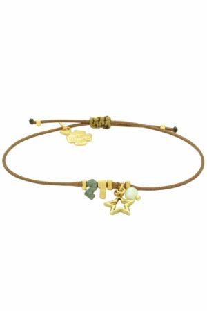 brown minimal 21 bracelet