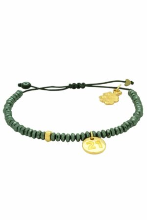 gunmetal green unisex '21 bracelet