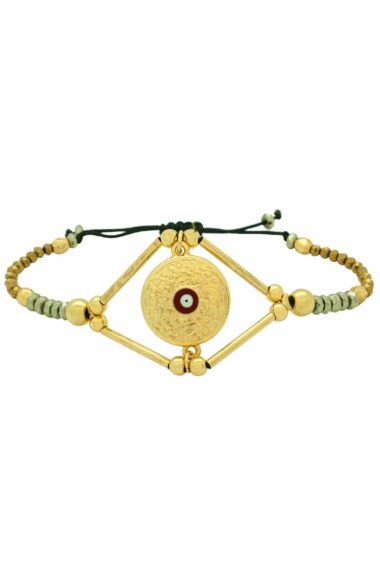 bracelet with gold-plated tag