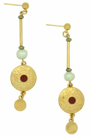 earrings with gold-plated pendants