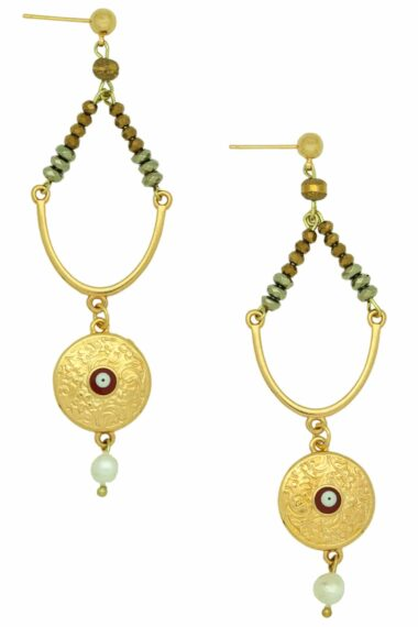 earrings with gold-plated pendant