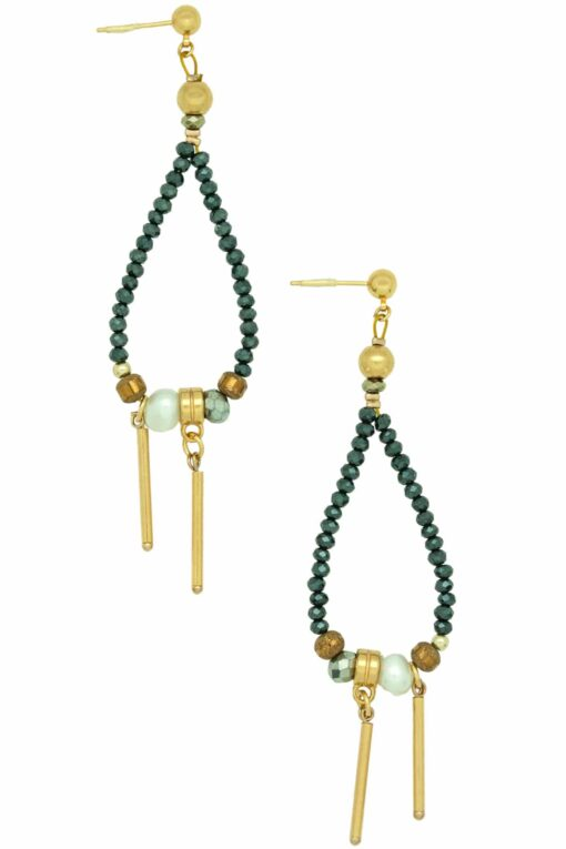 large drop-shaped earrings with pearl