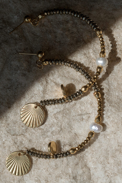 half rings with pearl