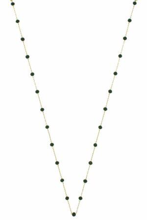 subtle necklace with black crystals