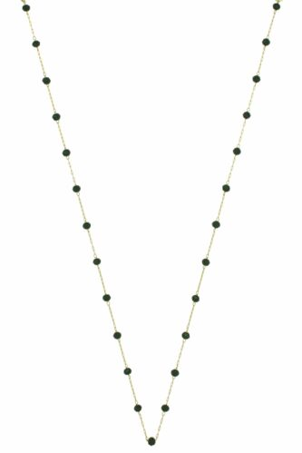 subtle necklace with black crystals