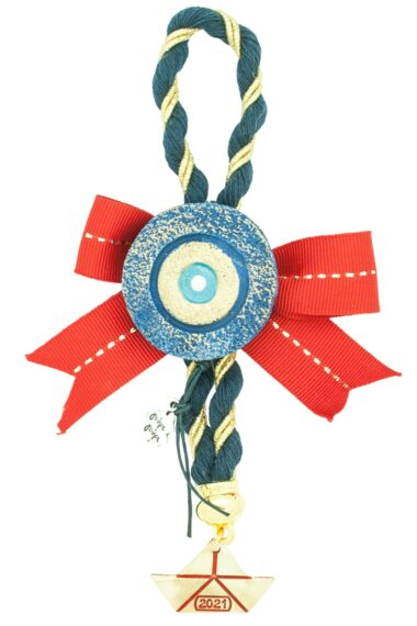 Christmas gift with blue evil eye