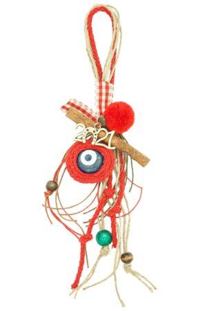 Christmas good luck charm with evil eye & 2021