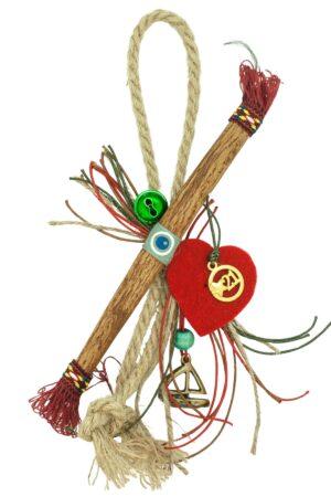 good luck charm for Christmas with cinnamon & heart