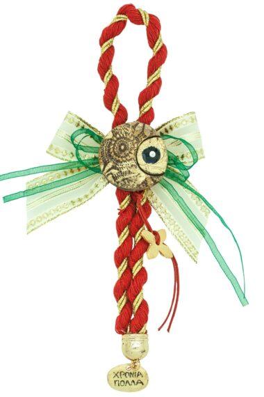 Christmas luck charm with evil eye