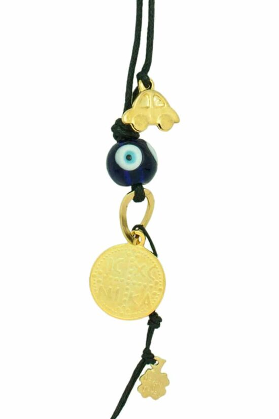 """car mirror charm with gold-plated """"IXNK"""" symbol"""