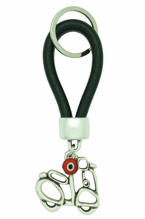 leather keyring for scooter keys