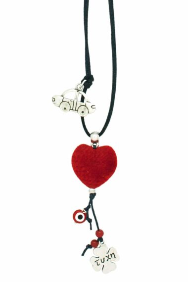 car good luck charm with red heart