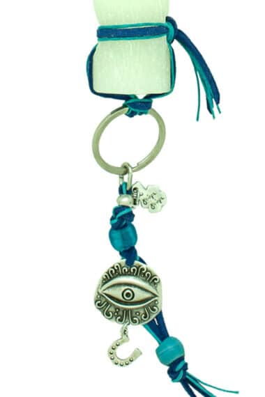 Easter candle with evil eye keyring