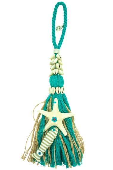 summer decorative charm with large starfish