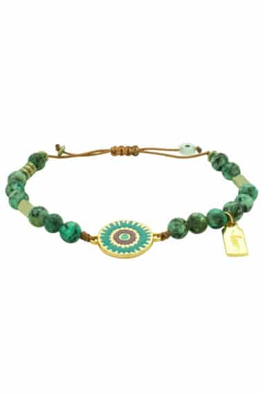 sea urchin bracelet with love tag