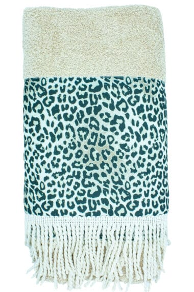 leopard design beach towel