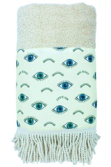 beach towel with eyes
