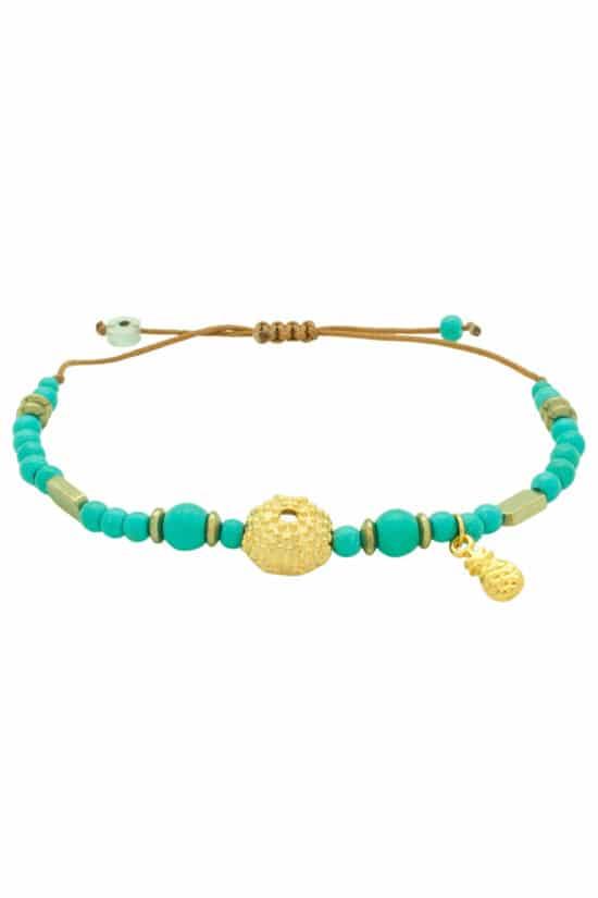 summer bracelet with sea urchin shell
