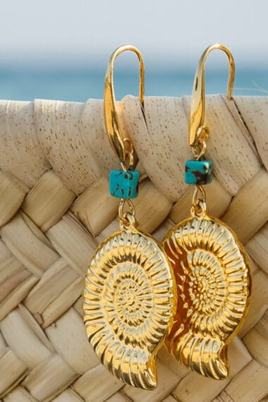 gold-plated shell earrings