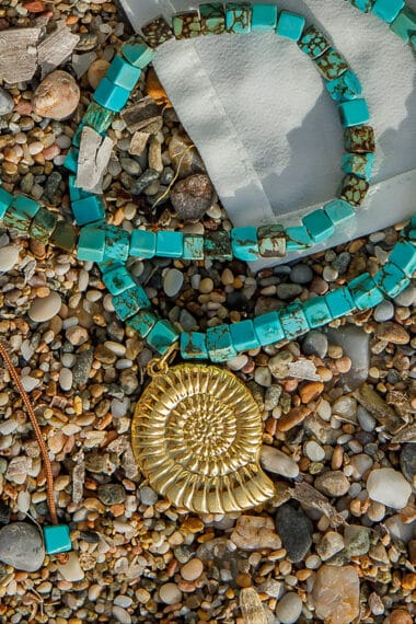 gold-plated shell necklace